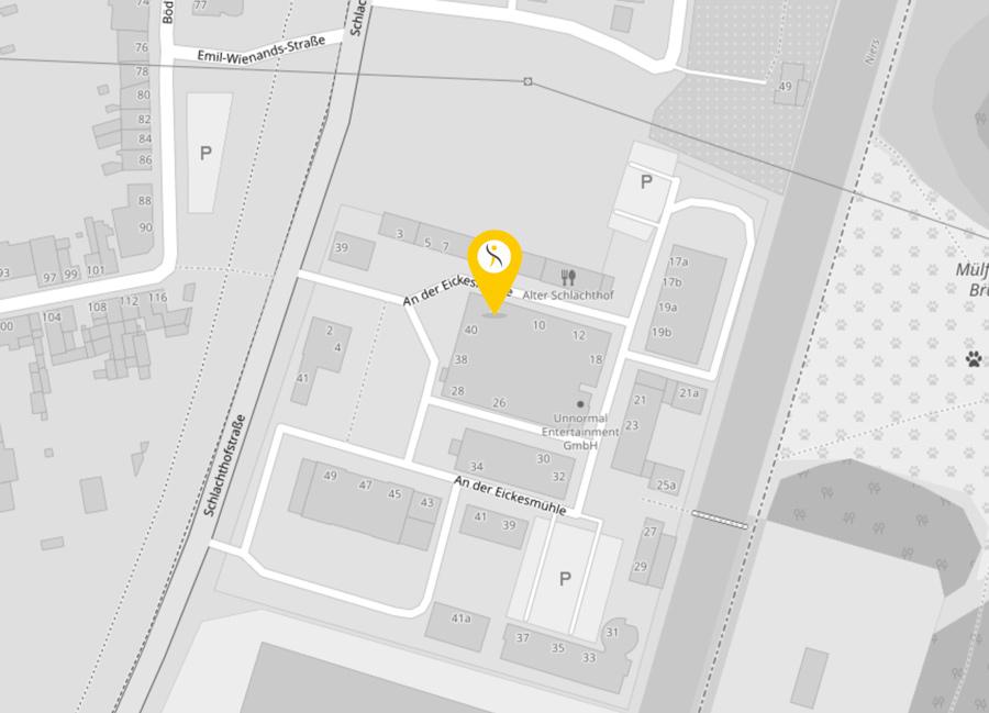 Karte mit Marker für Adresse: An der Eickesmühle 8, 41238 Mönchengladbach