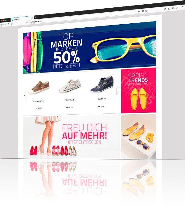 Screenshot vom Einkaufswelten Webshop