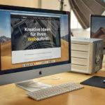 WordPress CMS auf dem Bildschirm zu sehen.